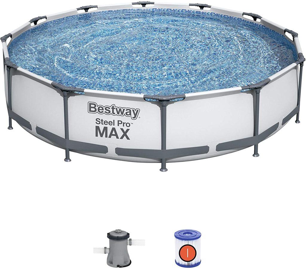Piscina Desmontable Tubular Steel Pro Max 366x76 cm Depuradora