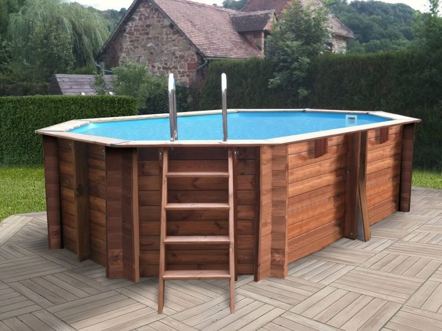 piscinas desmontables madera